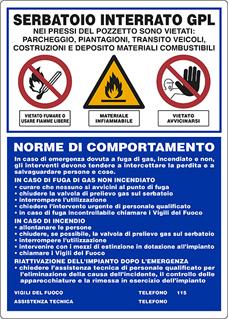Spazi comuni scheda cisterna del gasolio e serbatoio del gpl - Bombolone gas interrato ...